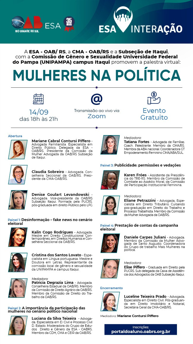 folder mulher politica oab rs