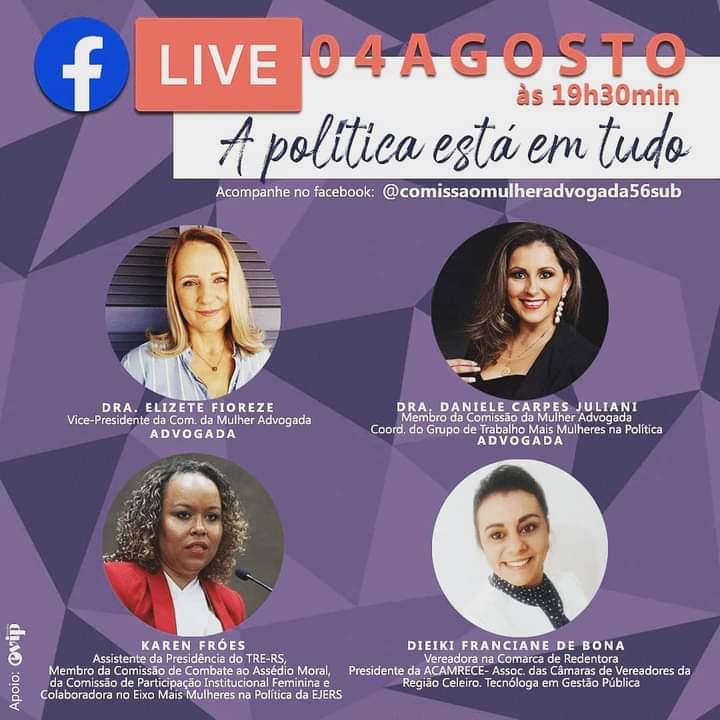 Live: A política está em tudo - OAB/RS