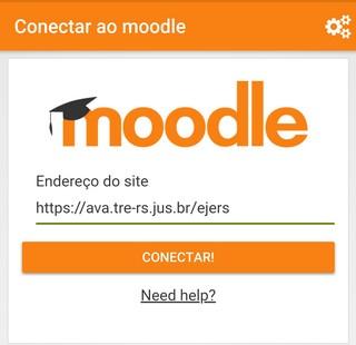 Moodle mobile com o site da EJERS